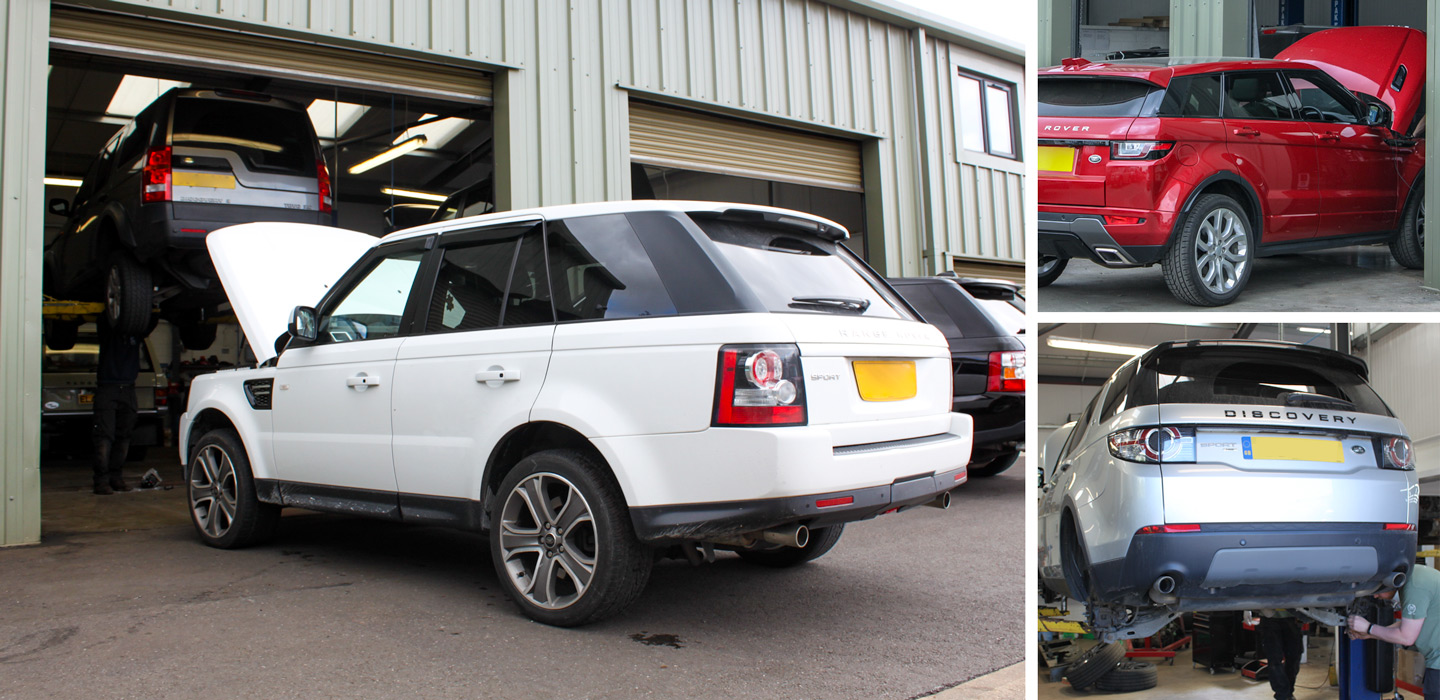 Modern Workshop facilities with Land Rover diagnostic, service and repair facilities
