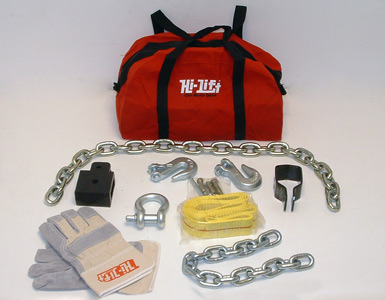 Winching Kit (strop, hooks, chains, shackle, bolts & pins, attachments, gloves, instructions)