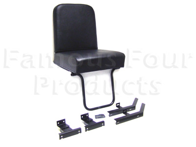 FF000487 - Rear Individual Black Vinyl Folding Seat - Land Rover Series IIA/III