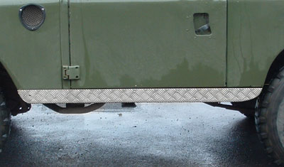 Series III Chequerplate Sill Protectors - Series IIA and III