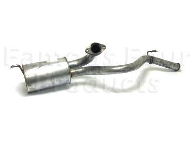 Picture of FF001136 - Mild Steel Rear Silencer & Tailpipe