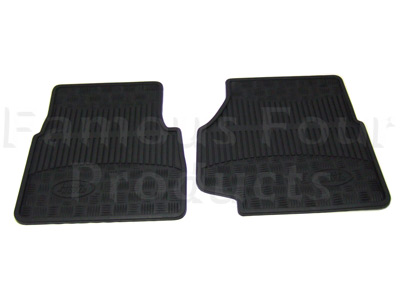 Front Footwell Rubber Floor Mats -  -