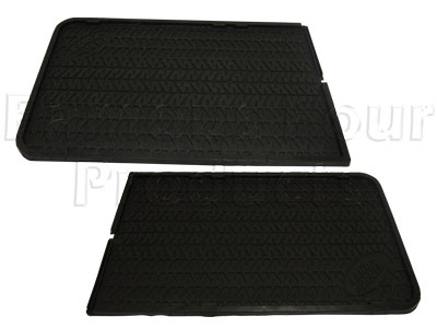 110 Second Row Footwell Rubber Floor Mats -  -