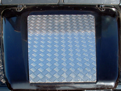 90/110 Chequerplate Bonnet Protector Sheet