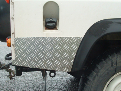 Chequerplate Protection Panels For Land Rover 90 110 And