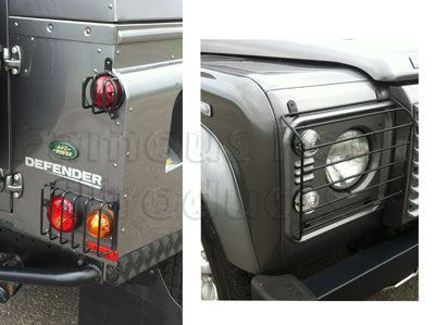 FF001247 - Full Vehicle Light Guard Set with Fittings - Land Rover 90/110 and Defender