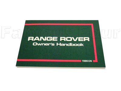 Picture of FF002085 - Range Rover 1986-1987 Owners Manual