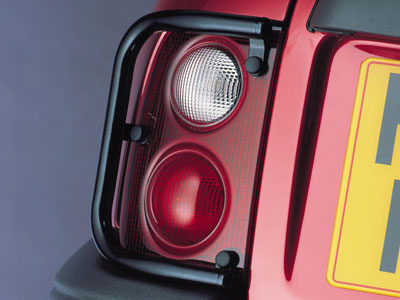 Picture of FF002783 - Black Tubular Steel Upper Rear Light Guards