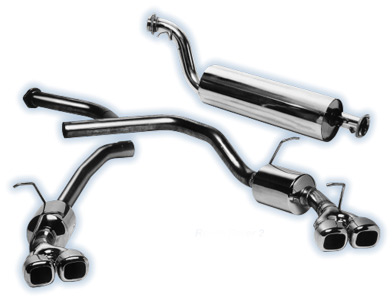 Picture of FF002952 - Twin Pipe Stainless Sports Exhaust