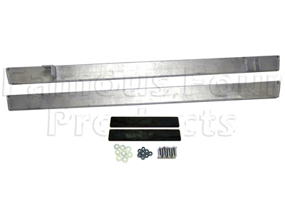 Galvanised Series IIA/III Rock Sliders