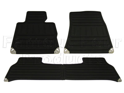 Set of 4 Footwell Rubber Mats