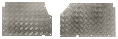 FF004138 - Chequerplate Front Floor Panels - to replace existing floor panels - Land Rover 90/110 and Defender