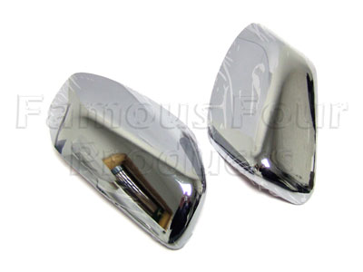 Chrome Finish Door Mirror Covers