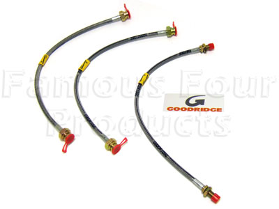 Picture of FF004499 - 3-Hose Braided Brake Flexi-Hose Kit