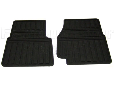 FF005090 - Front Footwell Rubber Floor Mats - Land Rover 90/110 and Defender