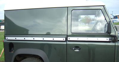 Side Protection Body Sliders (FF005186) for Land Rover 90 ...