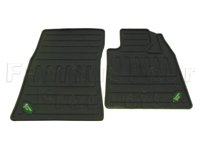 Rubber Footwell Mat Set Front
