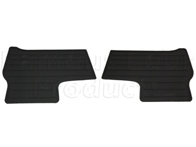 Rubber Footwell Mat Set Rear -  -