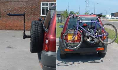 Land Rover Warwick >> Spare Wheel Mounting 2 Bike Rack (FF005381) for Land Rover