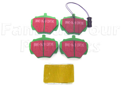 Rear Brake Pads for Solid Discs