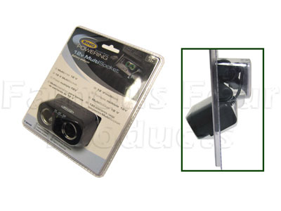 12v Twin MultiSocket cigar lighter socket