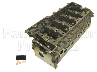 Picture of FF005448 - TD5 Cylinder Head - With Valves and Springs Fitted