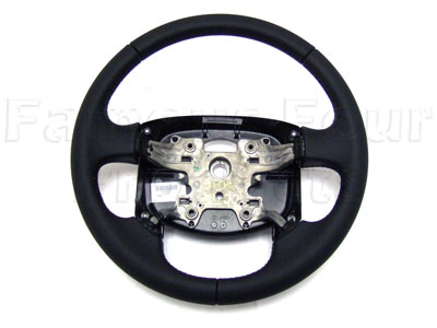 Leather Steering Wheel - Smooth Soft Black Nappa -  -