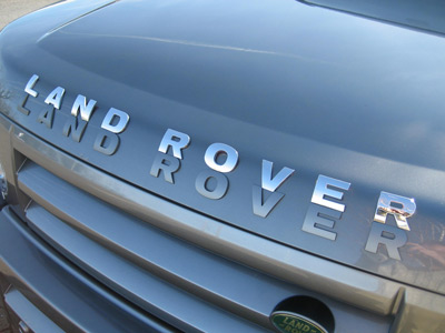 L A N D R O V E R electroplated chrome finish lettering