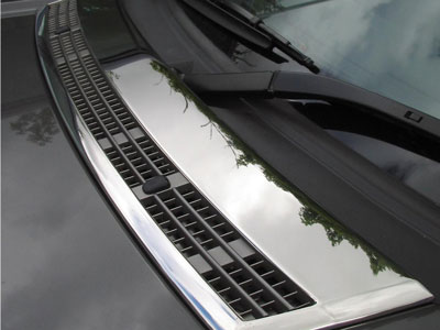 Chrome Finish Bonnet Vent Cover