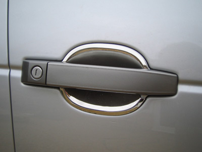 Door Handle Scuff Covers - Polished Stainless