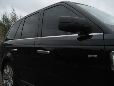 Rubber Window Trim Chrome Effect
