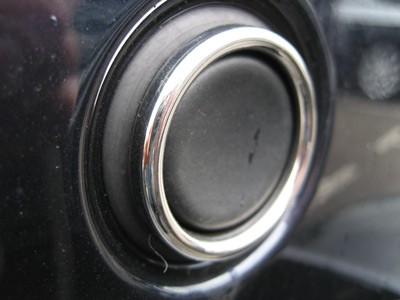 Tailgate Push Switch Surround - Chrome Effect