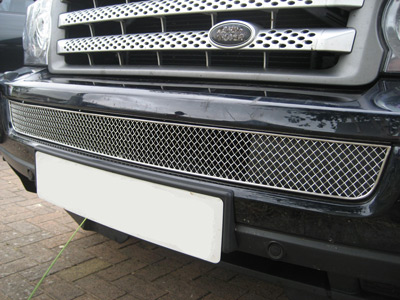 Front Lower Chrome Effect Mesh Grille