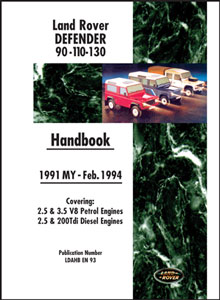 Land Rover 90/110 Owners Handbook