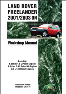 Workshop Manual Land Rover Freelander 2001-2003 on