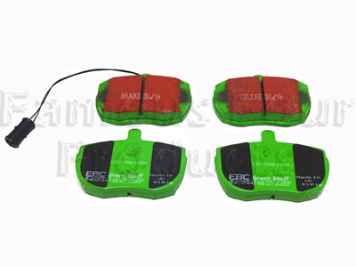 Front Brake Pads for Solid Discs  - EBC Green Stuff -  -