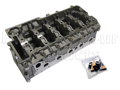 TD5 Cylinder Head - With Valves and Springs Fitted -  -