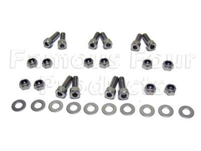 FF006126 - Bolt Kit - Stainless Steel - Rear Body Tub to Chassis Cross Member - Land Rover 90/110 and Defender