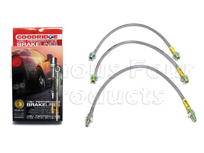 Picture of FF006142 - 3-Hose Braided Brake Flexi-Hose Kit