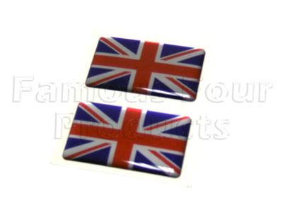 Badge UNION JACK - Rectangular -  -