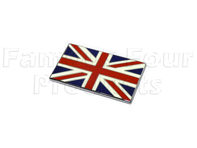 FF006346 - Badge UNION JACK - Rectangular - Range Rover L322 (Third Generation) up to 2009 MY