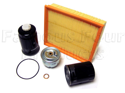 FF006541 - Service Filter Kit - Oil Air Fuel Filters with Drain Plug Washer - Land Rover Discovery Series II