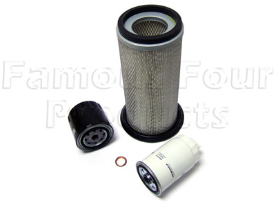 Picture of FF006546 - Service Filter Kit - Oil Air Fuel Filters with Drain Plug Washer