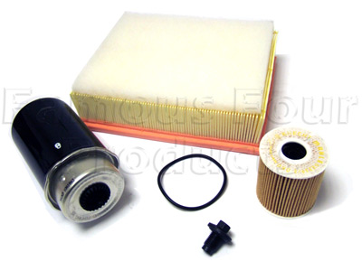 Picture of FF006551 - Service Filter Kit - Oil Air Fuel Filters with Drain Plug