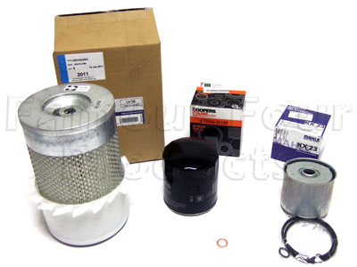 Service Filter Kit - Oil, Air & Fuel Filters with Drain Plug Washer -  -