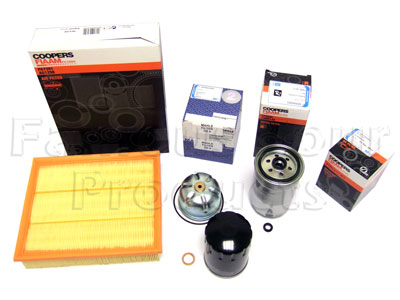 Picture of FF006571 - Service Filter Kit - Oil Air Fuel Filters with Drain Plug Washer