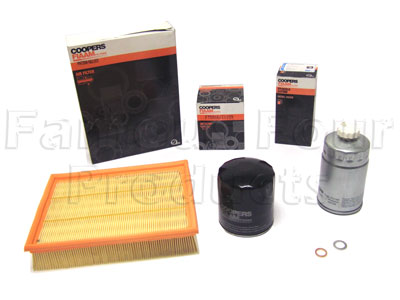 Service Filter Kit - Oil Air Fuel Filters with Drain Plug Washer