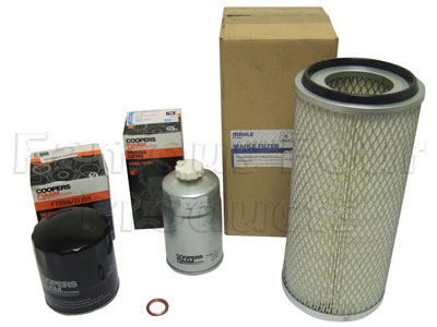 Picture of FF006573 - Service Filter Kit - Oil Air Fuel Filters with Drain Plug Washer