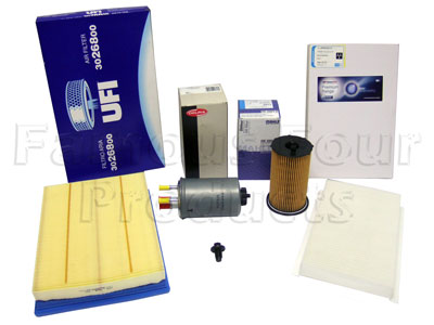 Service Filter Kit - Oil Air Fuel Pollen Filters with Drain Plug