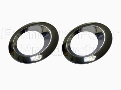 Chrome Front Fog Lamp Bezels